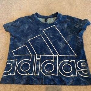 adidas blue tiedye shirt